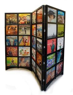 LP Room Divider Holds 60 12inch Records by AbleandBaker on Etsy, $2400.00