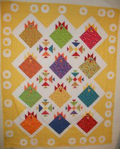 The Polka Dot Chicken   What a darling quilt!!
