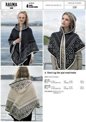 These large and small shawls with hoods are knit in Rauma Finullgarn. The traditional snowflake and lice pattern requires patience, but is satisying, and so cozy when done. Once the knitting is done, there are steeks to cut, just like a very traditio Hood Pattern, Cape Pattern, Jacket Pattern, Knitting Supplies, Knitting Kits, Knitting Patterns, Knitting Ideas, Crochet Patterns, Knitted Poncho