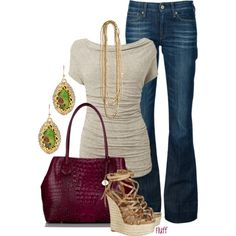 """sea side"" by fluffof5 on Polyvore  I NEEEEED that top!"