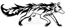 Tribal Mightyena Tattoo by DansuDragon.deviantart.com on @deviantART