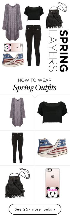 """Spring Outfit with Cardigan  "" by soundslikesamm on Polyvore featuring J Brand, Converse, WithChic, Casetify, cutecardigan and springlayers"