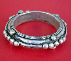 """Antique silver Moor or Tuareg """" deblig """" bracelet from South Mauritania or South Morocco ( Guelmim ).   Very good alloy of silver content.   See similar sample in """" Jewellery from the Orient - Treasures from the Bir Collection """", by Wolf-Dieter Seiwert, p. 98 and in """" Bijoux du Maroc """" by Jacques and Marie-Rose Rabaté, p. 186 and 191.   155$"""