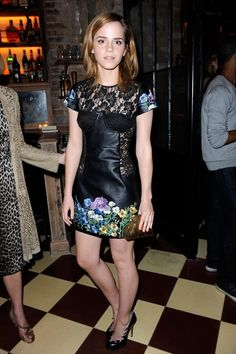 In Christopher Kane at a New York cocktail party hosted by American Vogue for British designers.