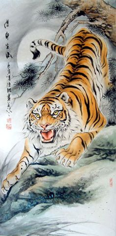 Japanese Art and tigers - yes please!