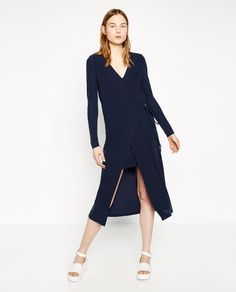 Image 1 of CROSSOVER DRESS WITH FRONT SLIT from Zara