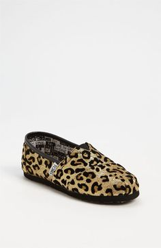 TOMS 'Classic Youth - Glitter' Print Slip-On (Nordstrom Exclusive) available at #Nordstrom. I'd probably rock these on a day off