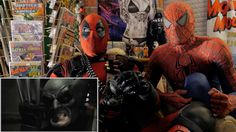 BATMAN VS WOLVERINE - REACTION SPANDEX - WITH SPIDER-MAN AND DEADPOOL