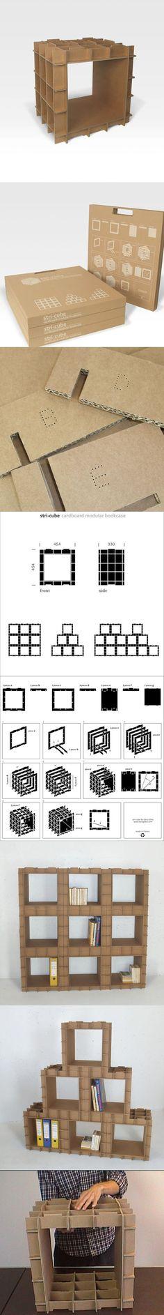 Estanterías con piezas de cartón - Muy Ingenioso