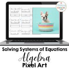 classroom tips, teaching ideas & resources for teaching high school math Easy Pixel Art, Systems Of Equations, Algebra 1, Teacher Tools, Math Classroom, Art Challenge, Art Activities, Classroom Management, Teaching Ideas