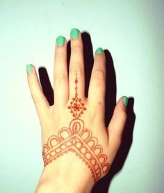 simple henna on hands - Google Search