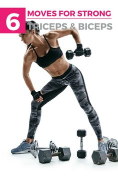 The Ultimate Upper Body Workout for Women: Triceps & Biceps Weight Excercises For Women, Dumbbell Exercises For Women, Arm Exercises, Upper Body Workout For Women, Fitness Workout For Women, Fitness Tips, Health Fitness, Fitness Workouts, Biceps And Triceps