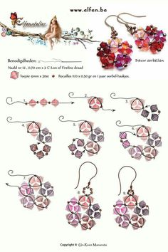 crystal earrings ~ Seed Bead Tutorials