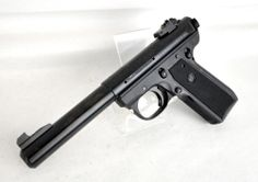 "Ruger 22/45 Mark III Target Rimfire Pistol .22 LR *NIB* Model # 10107. This pistol offers the familiar feel of the classic 1911 .45 cal pistol, but chambered in affordable .22 LR. Perfect for 1911 shooters looking for a low-cost way to train. Also an ideal pistol for plinking & small game hunting. Alloy steel frame, bull barrel, molded polymer grips, & blued finish. Fixed front sight, adj rear sight. Receiver is factory drilled and tapped. 10+1 capacity of .22 LR. 5.5"" barrel. 32 oz. $299.99"