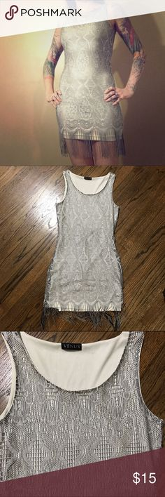 Venus flapper style dress This beautiful dress has a nice sheen to the material and a sewn in lining. Has good stretch to it. EUC venus Dresses