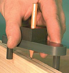 Make your own Center Finder | Toolmonger HUH well ain't that crafty as hell :)