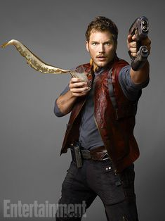 Gun slinging, beer drinking Chris Pratt  -  #guardiansofthegalaxy #marvelcinematicuniverse #kurttasche