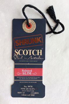 Scotch shrunk luxury hang tag