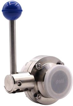 2 Sanitary Ball Valve,304 Stainless Steel Lever Type Sanitary Butterfly Valve,CNC Fine Welding Sanitary Valve for Water Oil, Clamp Valve,for Food,Beer,Dairy,Beer,Chemical Industries,etc.