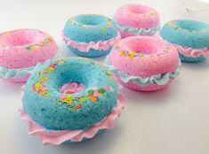 Bath Bombs Donut Bath Bomb Pink Birthday by VelvetMoonStudio