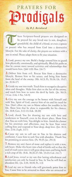 prodigal Prayer Cards | ... prayer card prayers for prodigals these scripture based prayers
