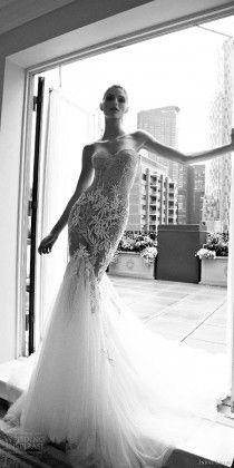 inbal dror 2016 wedding dress with strapless sweetheart mermaid wedding dress heavily embellished bodice style 14 mv