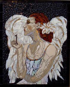 Mosaic girl        #design #mosaic #art