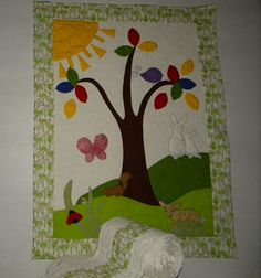Woodland Magic custom crib quilt and bumper by cottontailquilts