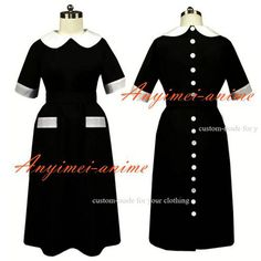 Free Shipping Sissy Maid The Cotton Smock Uniform Apron Dress Cosplay Costume Tailor-made