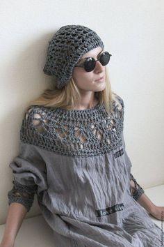 68 Ideas Crochet Top Boho Ideas For 2019 Crochet Yoke, Crochet Fabric, Crochet Collar, Crochet Blouse, Diy Crochet, Crochet Patterns, Dress Patterns, Estilo Boho, Crochet Woman