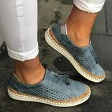 Womens Flats Sneakers Loafers Slip On Tassel Pumps Casual Hollow Shoes Size Casual Heels, Casual Loafers, Casual Sneakers, Loafers Outfit, Classy Casual, Comfy Casual, Women's Shoes, Pump Shoes, Flat Shoes