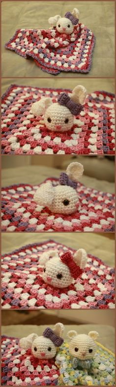 Crochet Bunny Lovey Lilac the bunny snuggle-lovey! My combination of a little…