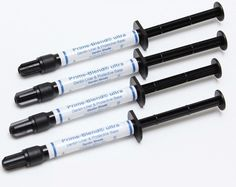 ****Authorized Dealer ****  4 x Prime Blend Ultra 2g Syringe Refills Made in the USA  Prime-Blend Ultra is a unique light-cured, radiopaque, dentin adhering liner and base material containing calcium hydroxide and calcium hydroxyapatite in a urethane dimethacrylate base. It is a highly filled resin (for a liner) with minimal shrinkage and water absorption.