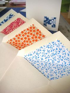 Fabric-lined envelopes - Tutorial