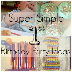 Simple 1st Birthday Party Inspiration - Octavia and Vicky