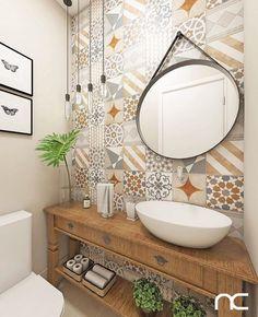 Nautical Bathroom Decor, Modern Bathroom, Small Bathroom, Bathroom Sink Units, Downstairs Bathroom, Bathroom Interior Design, Bathroom Inspiration, House Design, Home Decor