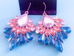 NWOT Multi-Color Silver Plated Rhinestone Chandelier Earrings #BaubleBar #Chandelier