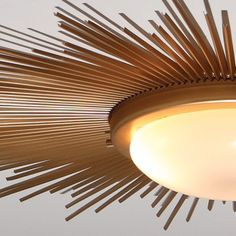 Global Views 9.91411 - Sunburst Gold Modern / Contemporary Flush Mount Ceiling Light
