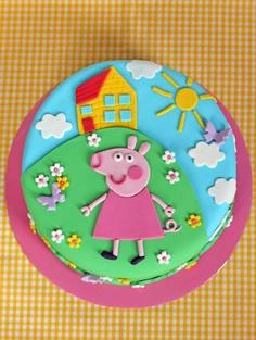 peppa pig cake    http://butterheartssugar.blogspot.com.au/2013/01/peppa-pig-birthday-cake.html