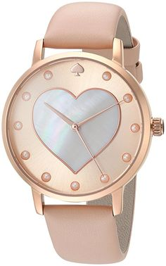 f934bef3593 Kate Spade Women s  Metro  Quartz Stainless Steel and Leather Casual Watch