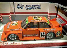"BMW 320 Jagermeister Grupo 5 del equipo DRM en ""Diorama Parking"" Pilotado por H. Slot Car Racing, Slot Cars, Scale Models, Vintage Toys, Diorama, Hot Wheels, Diecast, Photo Galleries, Bmw"