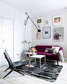 pyntepuder til grå sofa