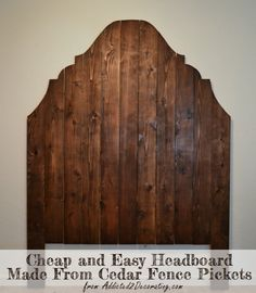 DIY Headboard Ideas for Your Good Bedroom - Diy Wood Headboard Ideas - Cedar Fence Picket Headboard Home Diy, Wood Diy, Headboard Designs, Cedar Fence Pickets, Headboard Diy Easy, Diy Furniture, Diy Wood Headboard, Diy Headboards, Simple Headboard