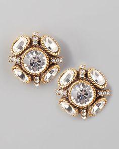 crystal stud earrings | oscar de la renta
