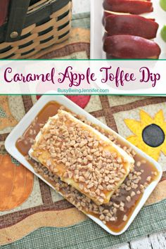 Delicious Caramel Apple Toffee Dip Recipe - BusyBeingJennifer.com