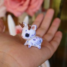Blue Moonlight Jackalope by TheLittleMew on Etsy
