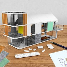 architectural model making kit 120 by arckit   notonthehighstreet.com