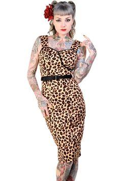 Banned Nina Leopard Pencil Dress
