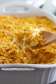 Funeral Potatoes Recipe + VIDEO - Taste and Tell - - A popular Utah casserole, these Funeral Potatoes are good for more than just funerals! This classic potato casserole is comforting and crowd-pleasing. Potato Dishes, Potato Recipes, Food Dishes, Side Dishes, Main Dishes, Holiday Recipes, New Recipes, Cooking Recipes, Favorite Recipes