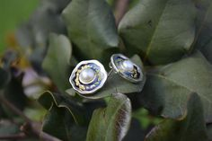 Sterling Silver Stud  Earrings With Blue Enamel and White Freshwater Pearl, Christmas gift by giampouras. Explore more products on http://giampouras.etsy.com
